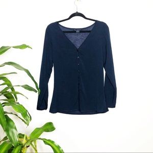 French connection ┃Dark Blue Button Down Blouse